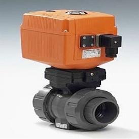 2-way electric plastic ball valve