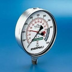 Bourdon tube test pressure gauge