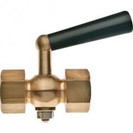 Brass plug valve for pressure gauge