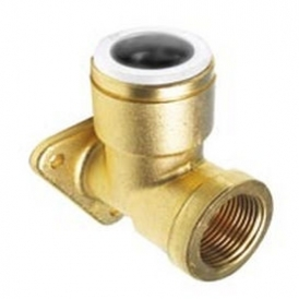 Brass threaded elbow fitting