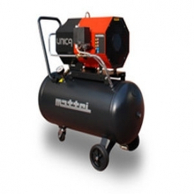 Compact rotary vane air compressor