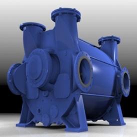 Corrosion resistant liquid ring vacuum pump