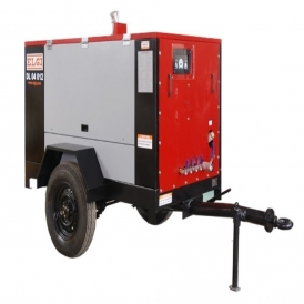 Diesel powered screw air compressor (portable)