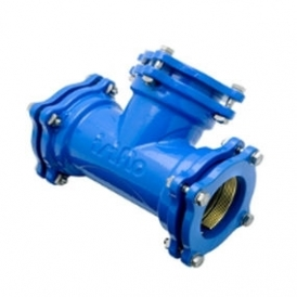 Ductile cast iron tee flanged coupling