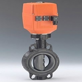 Electric plastic butterfly supply valve