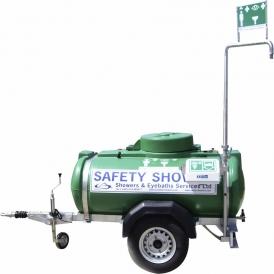 Mobile safety shower