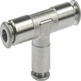 Nickel plated brass pneumatic push-in fitting