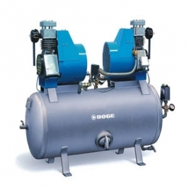 Oil free reciprocating air compressor with tank (stationary)