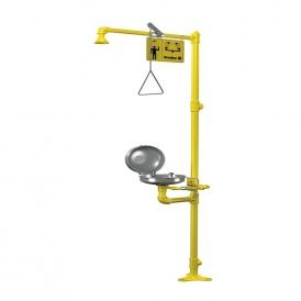 Pedestal safety shower