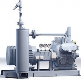 Piston compressor with direct drive (stationary)
