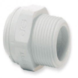 Plastic barbed coupling