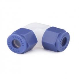 Plastic push-in elbow fitting