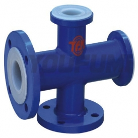PTFE lined cross coupling