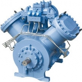 Reciprocating refrigeration compressor for industrial refrigeration