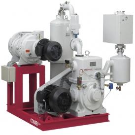 Roots pump vacuum unit