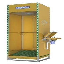 Safety shower booth
