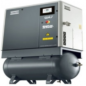 Screw compressor with oil injection (stationary)