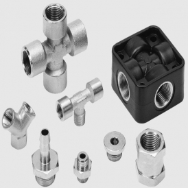 Standard nickel plated brass push-in pneumatic fitting