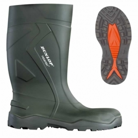 Thermally insulated safety rubber boots