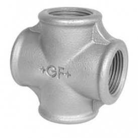 Threaded cross fitting