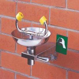 Wall mount safety eyewash station