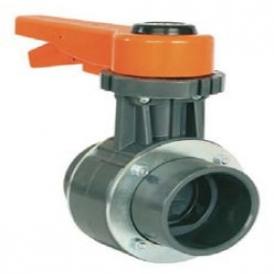 Weld-in butterfly valve