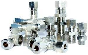 Nickel plated brass pneumatic cutting ring fitting