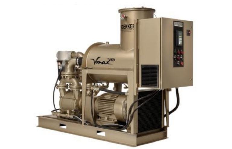 Oil sealed liquid ring pump vacuum unit