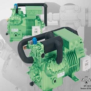 Semi-hermetic reciprocating refrigeration compressor
