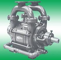Single-stage liquid ring air compressor