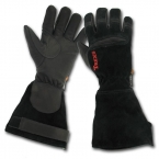 Gauntlet style fire fighter gloves
